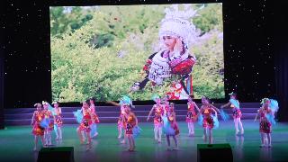 2019年6月9日紫薇风采少年儿童舞蹈比赛群舞儿童A组第二名《苗家姑娘爱绣花》雪峰舞校