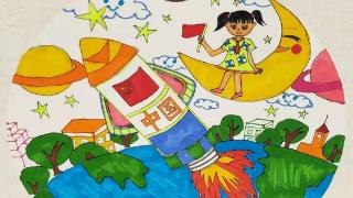 """烟台市青少年宫美术部举办""""我和我的祖国""""市区少年儿童庆""""六一""""现场创意书画比赛"""
